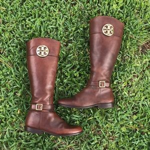 Tory Burch Brown leather boots Sz 8.5